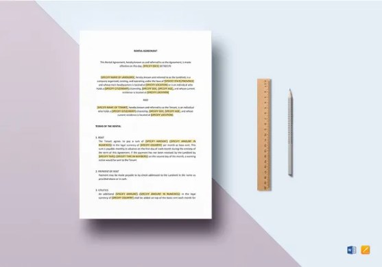 17  Booth Rental Agreement Templates     Free Downloadable Samples     Rental Agreement Template in Google Docs