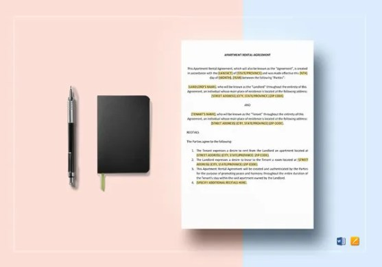 13  Room Rental Agreement Templates     Free Downloadable Samples     Sample Apartment Rental Agreement Template