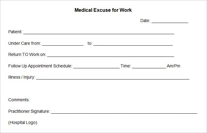 Free Doctors Excuse Template. xywhj com fake doctors notes and ...