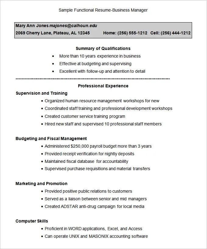 Functional Resume Examples Free. Resume Examples Functional Resume