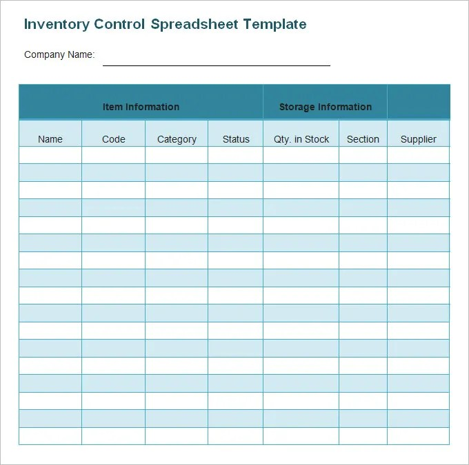 Business Inventory Template free database for organizer deluxe – Inventory Template Word