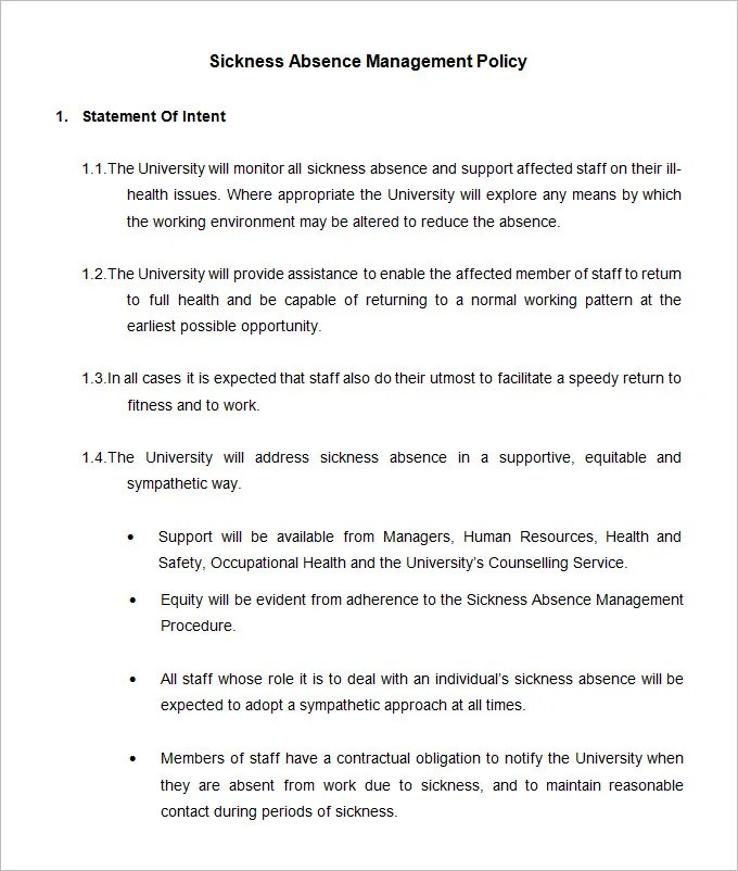 Attendance Policy Template 33 hr warning letters free sample – Attendance Policy Template