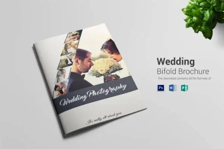 33  Bi Fold Brochure Templates   Free Word  PDF  PSD  EPS  Indesign     Wedding Bifold Brochure Template