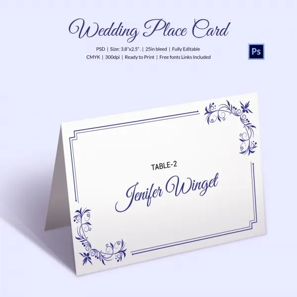 Blank White Place Cards A4 60 Pk