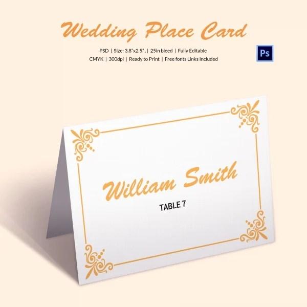 Printable Wedding Place Card
