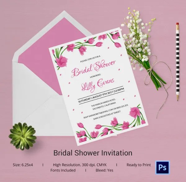 Wedding Shower Invitation Templates Free