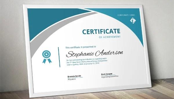 41 Sample Certificate Templates Pdf Doc Free Premium