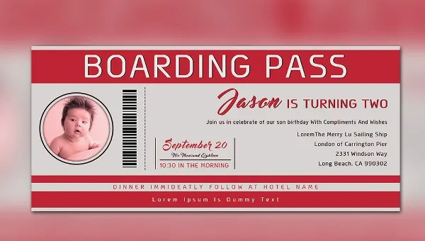 29 boarding pass invitation templates