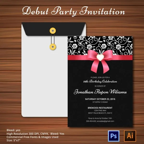 Sample debut invitation card paperinvite 18 candles and roses debut invitation just b cause card stopboris Choice Image