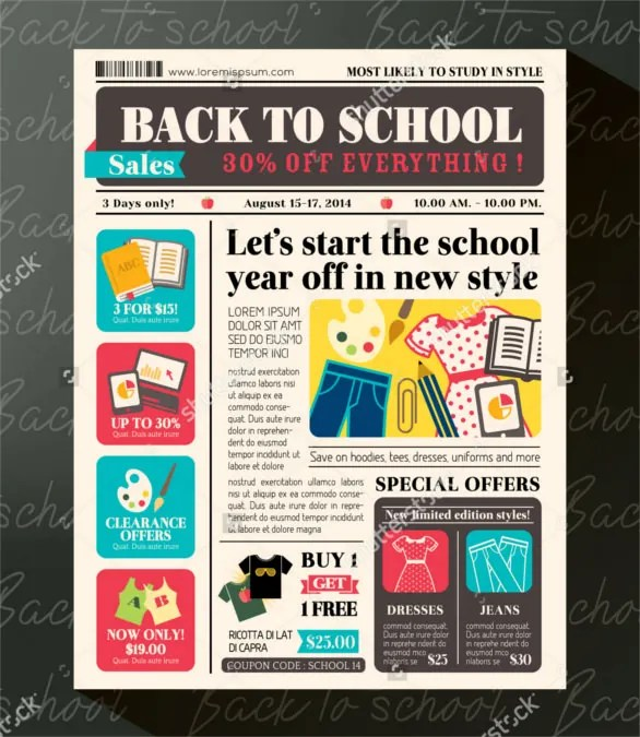 Newspaper Front Page School Ideas
