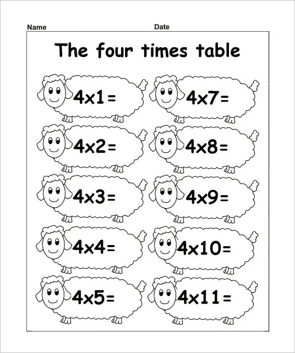 15 Times Tables Worksheets