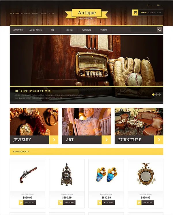 Antique Magento Templates Themes Free Premium Free