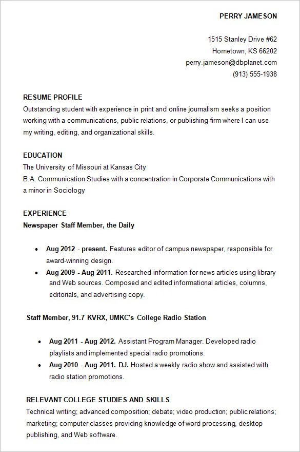 high school resume template samples free download student resume