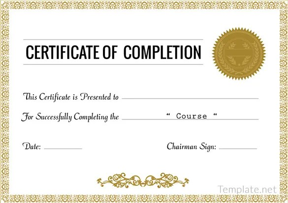 Certificate template award cirtificates all form templates for Training certificate template free