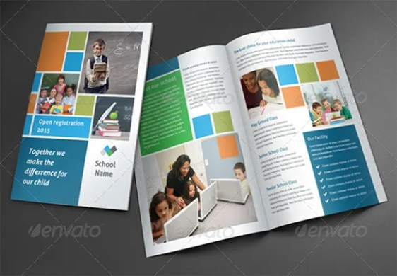 17  School Brochure PSD Templates   Designs   Free   Premium Templates Dark School Brochure Template