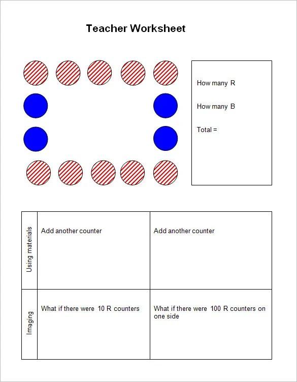 8 Worksheet Templates For Teacher