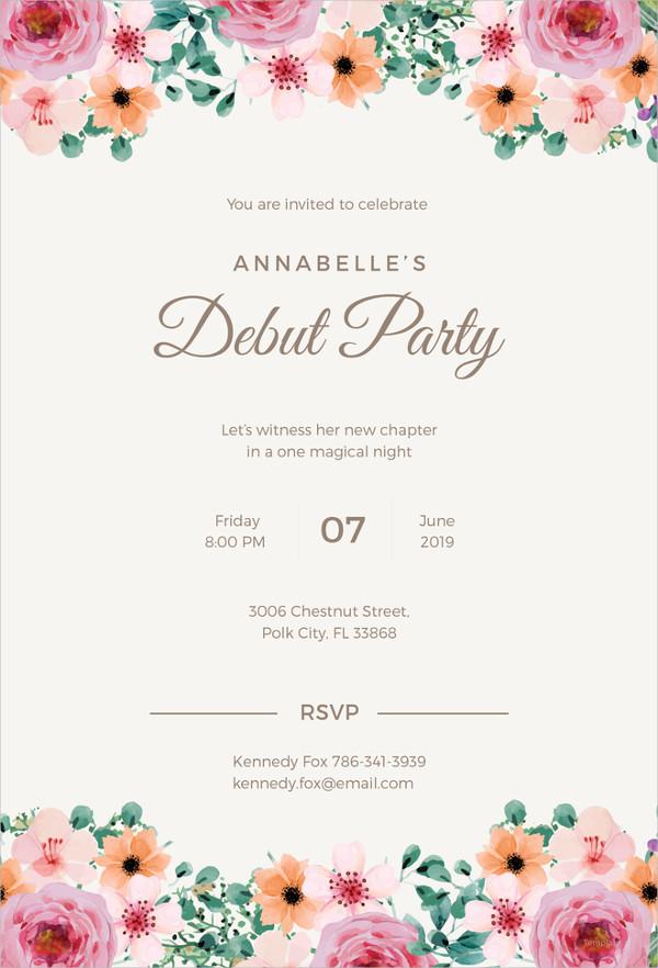 27 debut invitation templates psd