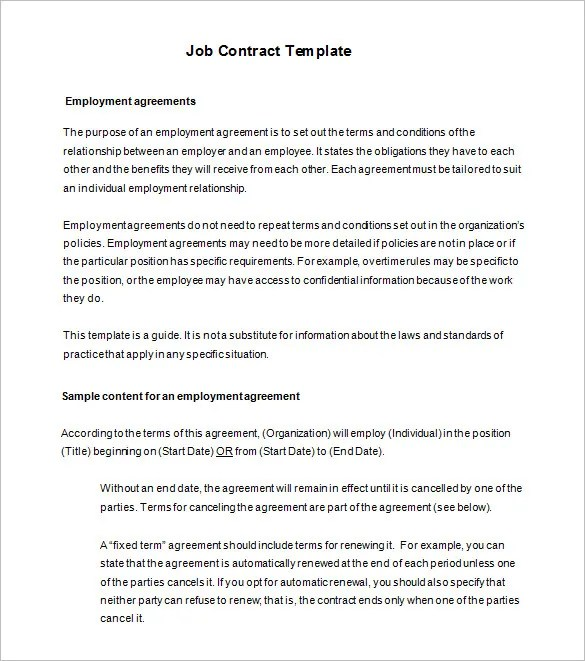 Employment Contracts Templates. employee training agreement ...