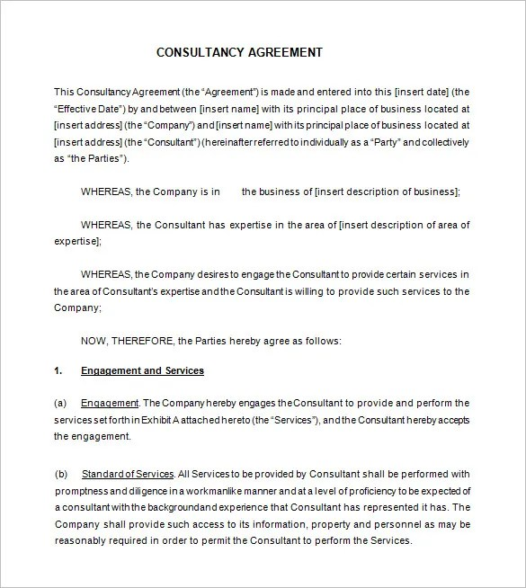 16 Consultant Contract Templates Word Google Docs Pdf