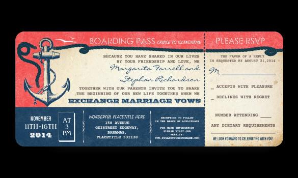 29 Boarding Pass Invitation Templates Psd Ai Vector Eps