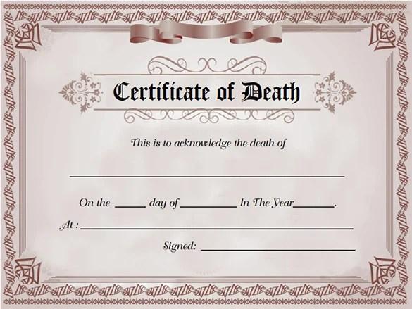 Death Certificate Template Word blank blank 7 death certificate – Certificate Template Word