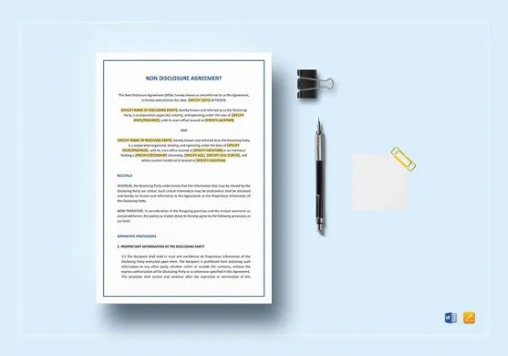 14  Vendor Confidentiality Agreement Templates     Free Sample     Non Disclosure Agreement Template in Word