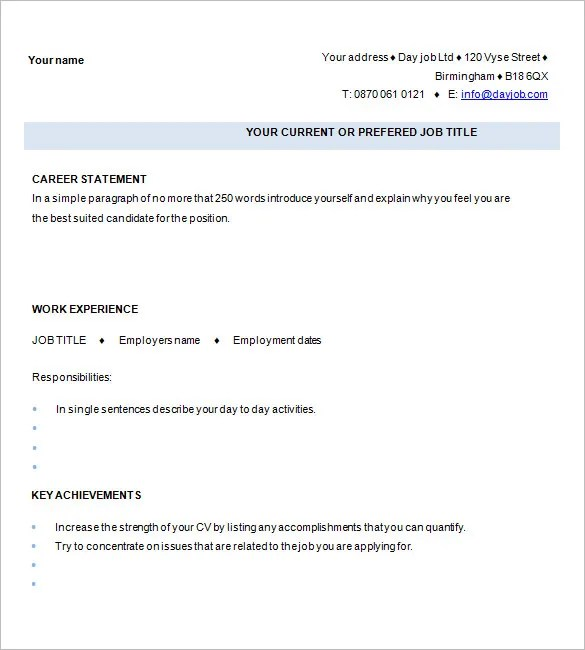 One Page Resume Examples. One Page Resumes Examples Infografika