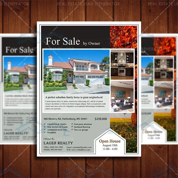 free for sale by owner flyer template - Acur.lunamedia.co