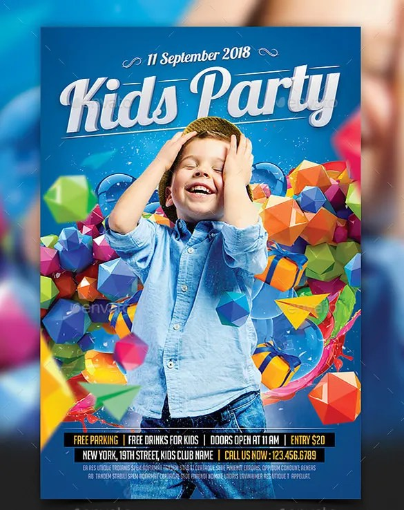 Birthday Flyer Templates. 20 cool flyer templates for kid amp ...
