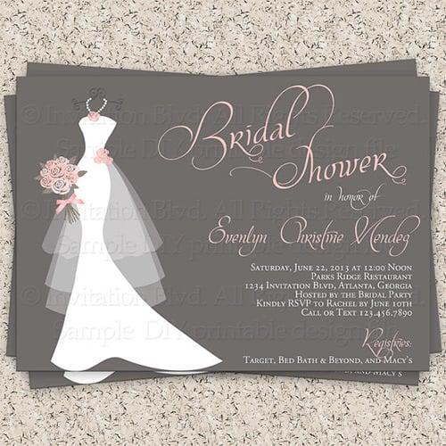 Wedding Shower Templates wedding invitations cheap wedding shower – Blank Wedding Shower Invitations