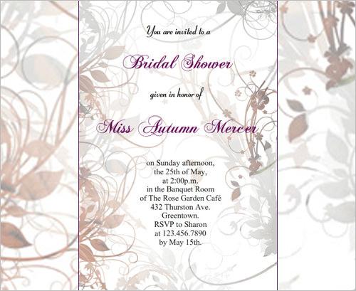 33 Psd Bridal Shower Invitations Templates Free Premium