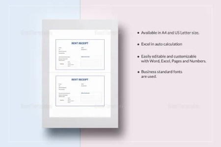 Receipt Template   199  Free Sample  Example  Format Download   Free     Rent Receipt Template in Google Docs