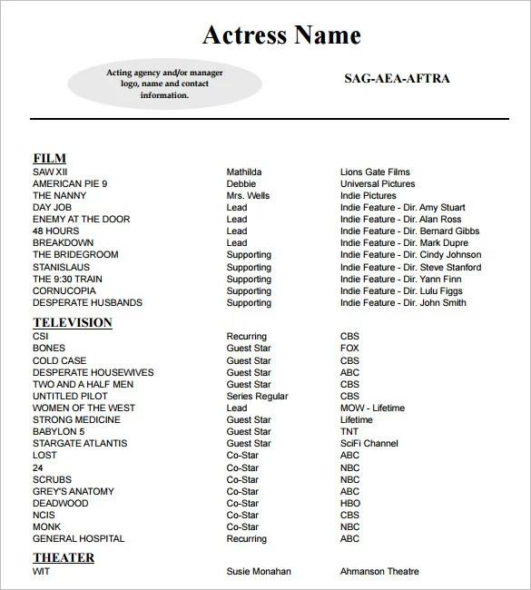 sample theater resumes sample resume for kid actors steve