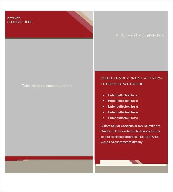 Brochure Template For Word free brochure templates for word – Free Brochure Template for Word