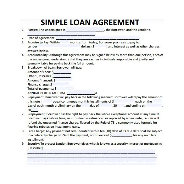 free contract templates word pdf agreements agreement template – Simple Investment Contract Template