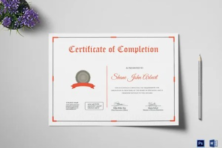 18  Graduation Certificate Templates   Word  PDF Documents Download     Successful Graduation Completion Certificate Template
