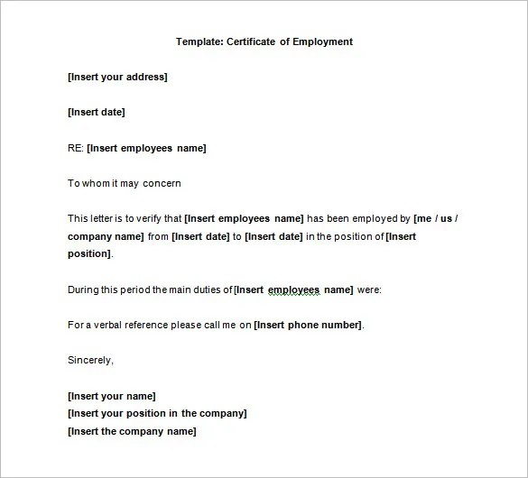 40 Employment Certificates Pdf Doc