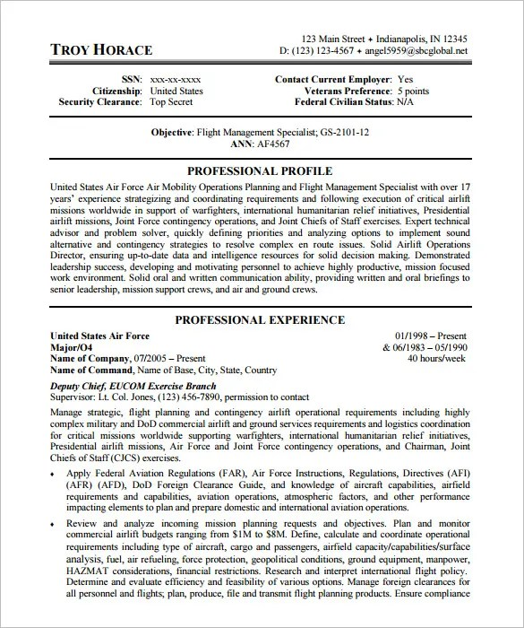 Federal Resume Sample Middot 2nd