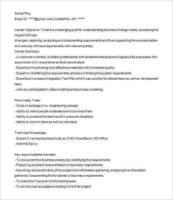 It Analyst Resume Sample. Business Analyst Resume Samples Resume
