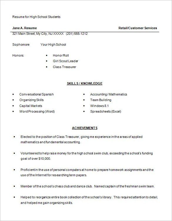free academic resume template 10 college resume templates free