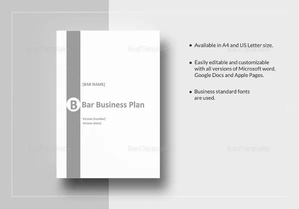 Bar Business Plan Template   12  Free Word  Excel  PDF Format     Bar Business Plan Template in Word