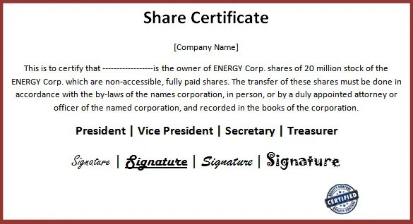 24 Share Stock Certificate Templates Psd Vector Eps