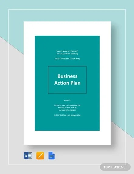 Business Action Plan Template 7 Word Excel Pdf Format