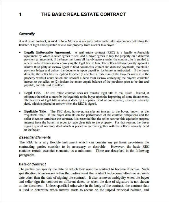 14 Real Estate Contract Templates Word Pages Docs