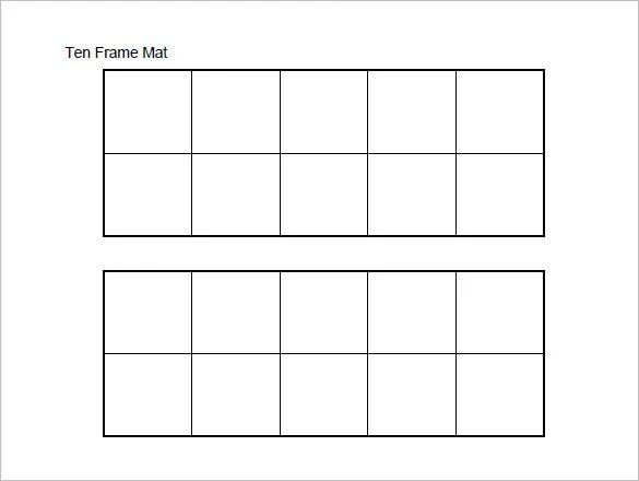 Ten Frame Templates. teacher mama using ten frames for building ...