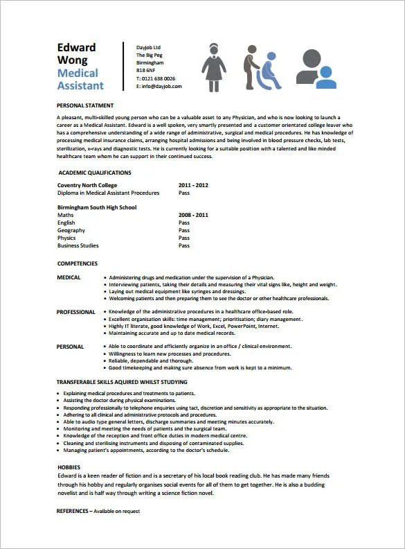 Medical Istant Resume Templates | Free Medical Assistant Resume Resume Sample
