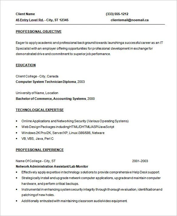 example software programmer resume template free download