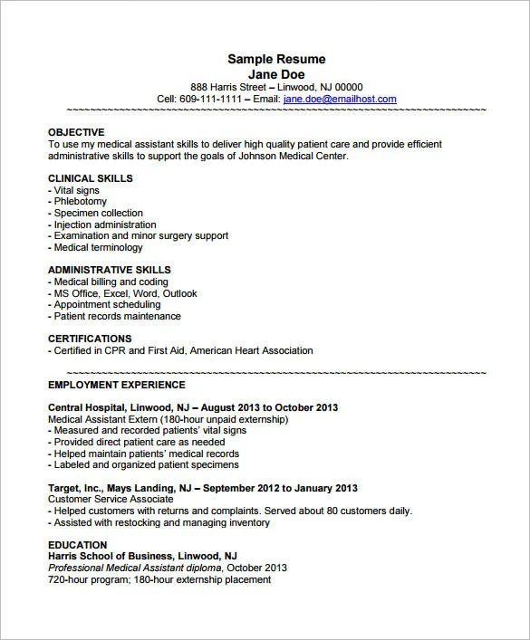 Cool Resume Templates Free Resume Medical Assistant  Resume Sample Customer Service Representative Resume Examples Pdf with Google Docs Template Resume Excel Medical Istant Resume Template  Free Samples Examples Nursing Resumes For New Grads Word