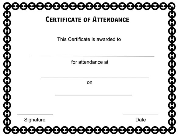 Attendance Certificate Template Word Urgup Kapook Co
