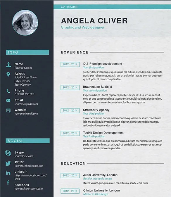 Web Design Resume Template